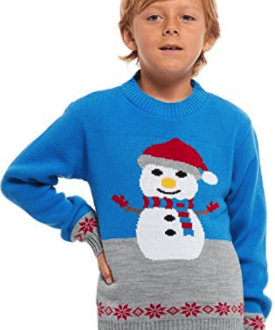 børne juletrøje med snemand