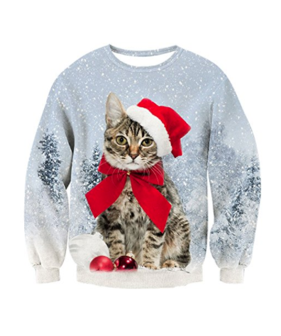 Kat juletrøje