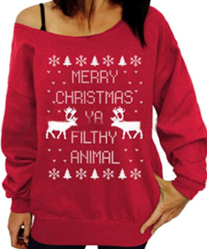 Slasket julesweater