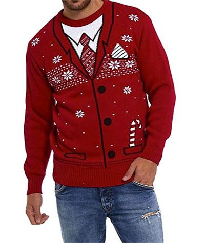 julesweater skjorte og slips