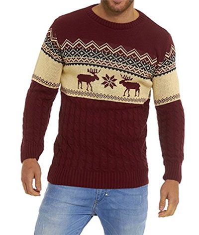 Brun julemands sweater