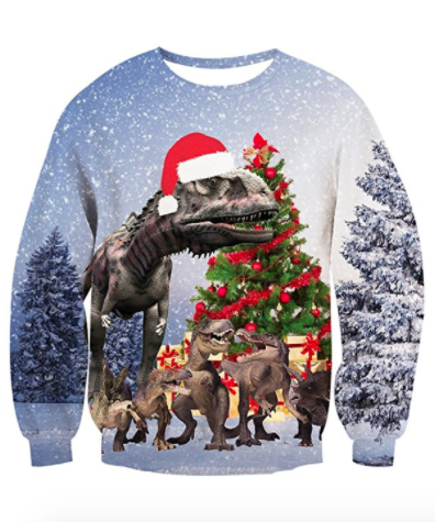 Dinosaur julesweater