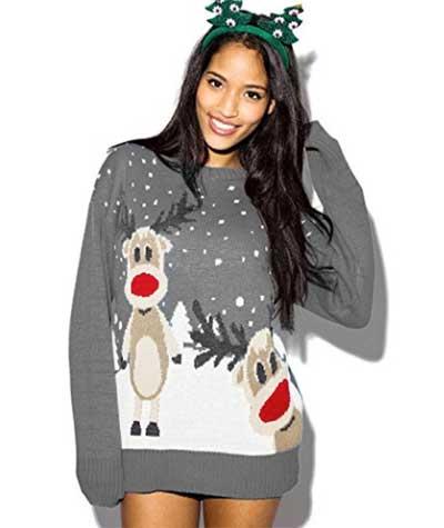 Julesweater ekstra lang