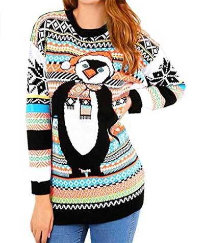 Julesweater med pingvin