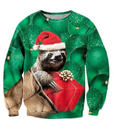 Charmerende dovendyrs juletrøje
