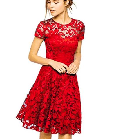 Klassisk rød julekjole