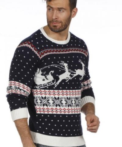 julesweater blå
