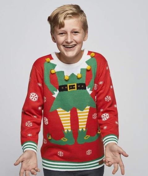 Alfe julesweater til dit barn