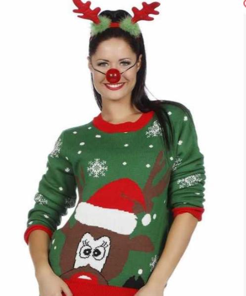 Den grønne julesweater til kvinder