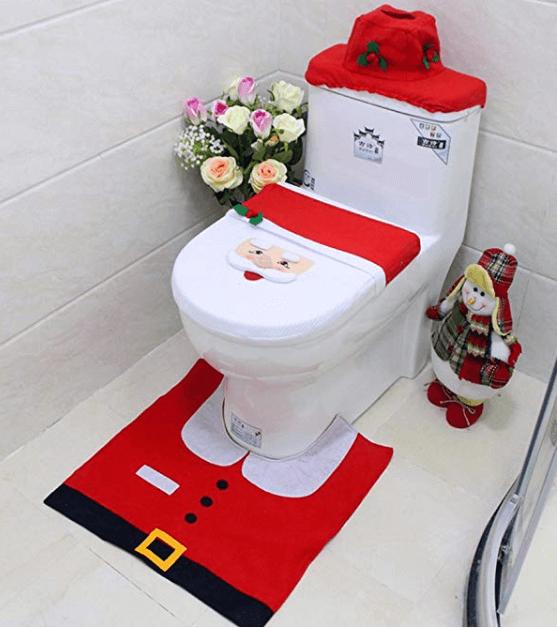 Jule dekoration til toilettet