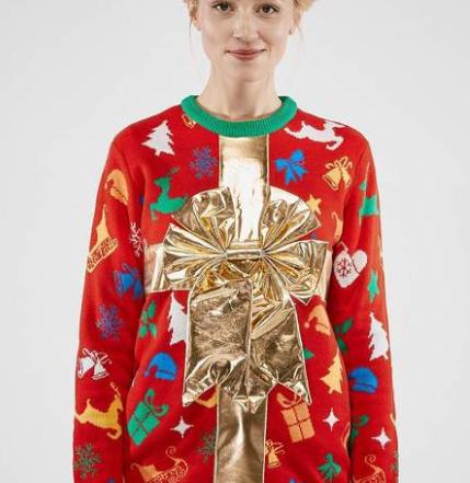 Julegaveindpakket juletrøje