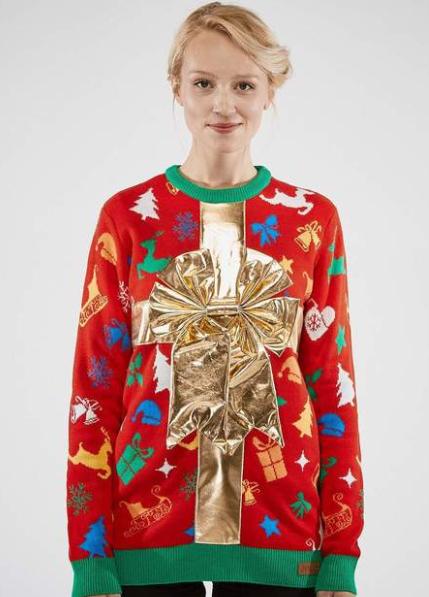 En fin julegaveindpakket juletrøje