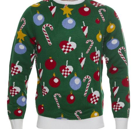 Julepyntet julesweater