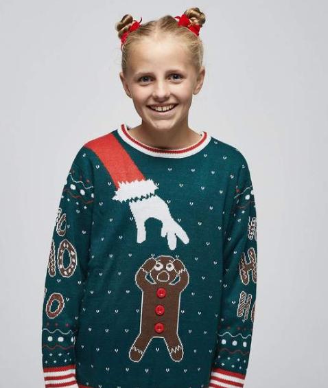 Peberkage julesweater til børn