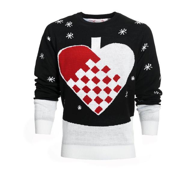 Julesweater hjerte